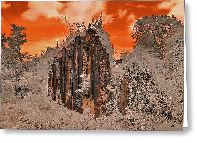 Ruins Greeting Card by Nicky Ledesma