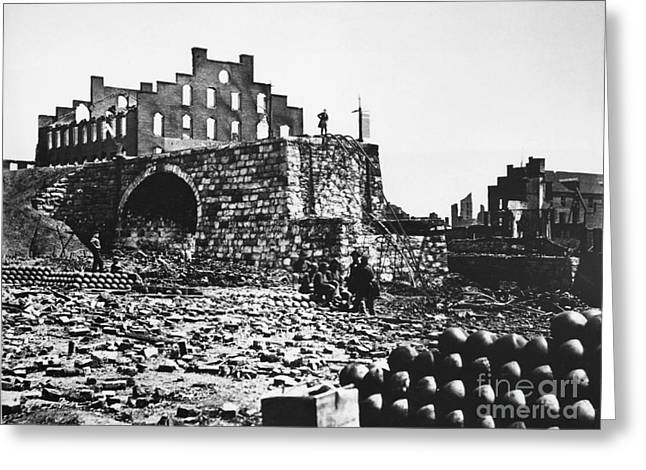 Ruins Greeting Card by Photo Researchers