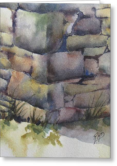 Ruins Greeting Card by Ramona Kraemer-Dobson