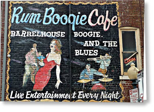 Rum Boogie Cafe Greeting Card