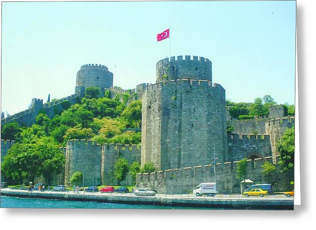 Greeting Card featuring the painting Rumeli Hisar by Lou Ann Bagnall