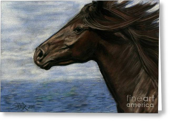 Greeting Card featuring the painting Run Free by Sheri Gordon