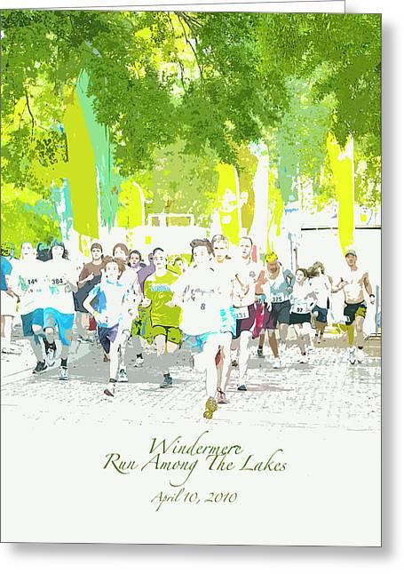 Run Walk Poster Greeting Card
