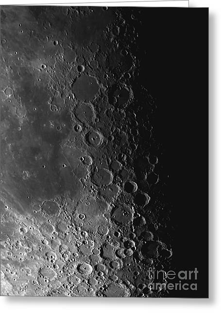 Rupes Recta Ridge And Craters Pitatus Greeting Card by Phillip Jones