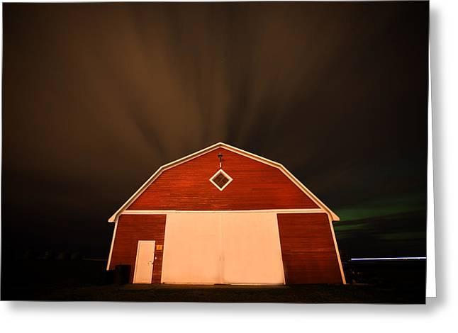 Rural Barn Night Photograhy Greeting Card by Mark Duffy