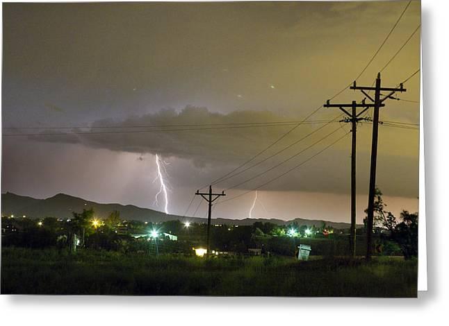 Rural Lightning Striking Greeting Card