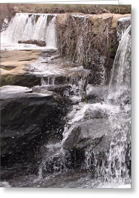 Rushing And Flowing Greeting Card by Michelle H