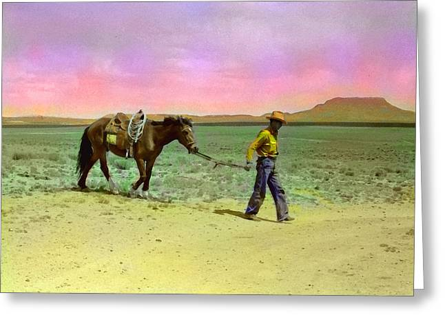 Russell Lee's Cowboy Greeting Card by Timothy Bulone