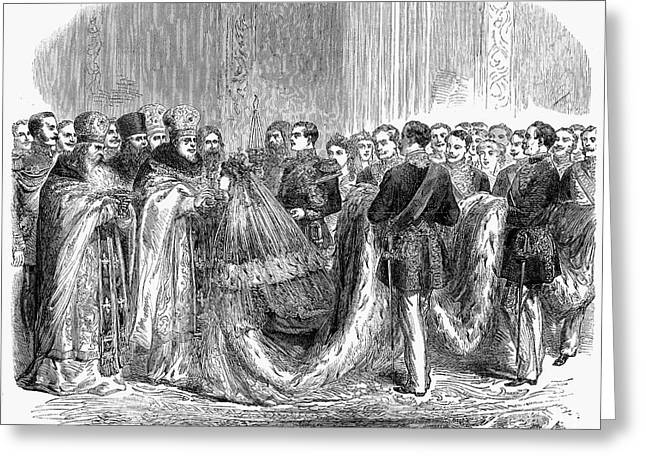 Russia: Royal Wedding, 1866 Greeting Card by Granger