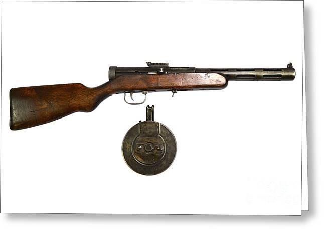 Russian 7.62mm Ppd Submachine Gun Greeting Card
