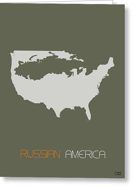 Russian America Poster Greeting Card by Naxart Studio