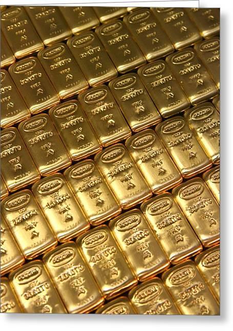 Russian Gold Bullion Greeting Card by Ria Novosti