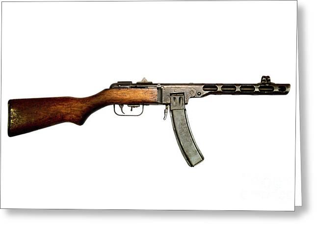 Russian Ppsh-41 Submachine Gun Greeting Card