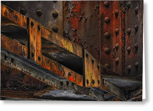 Rust And Oxydation Greeting Card by Joachim G Pinkawa