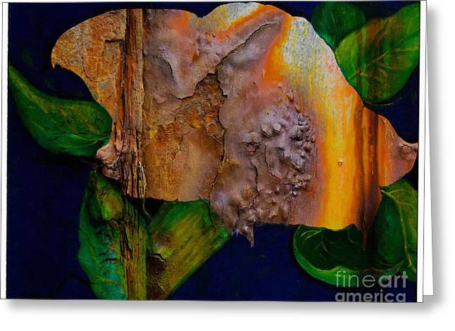 Rust Texture 3  Greeting Card by Barbara Griffin