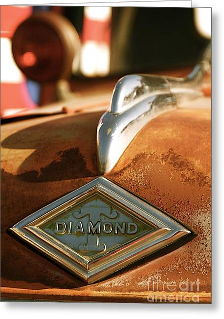 Rusted Antique Diamond Car Brand Ornament Greeting Card by ELITE IMAGE photography By Chad McDermott