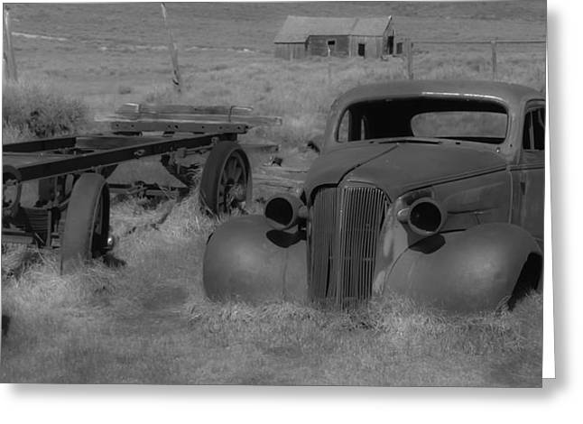 Rusted Car Greeting Card by Richard Balison