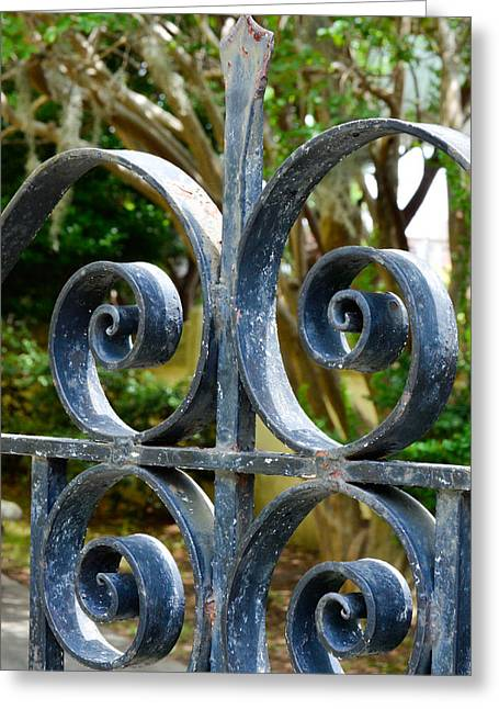 Rusted Charleston Ironwork Greeting Card by Debbie Karnes