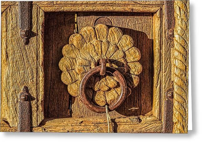 Rustic Charm Of Santa Fe Greeting Card by Ken Stanback