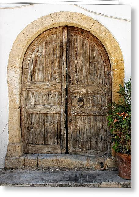 Rustic Gates Greeting Card by Paul Cowan