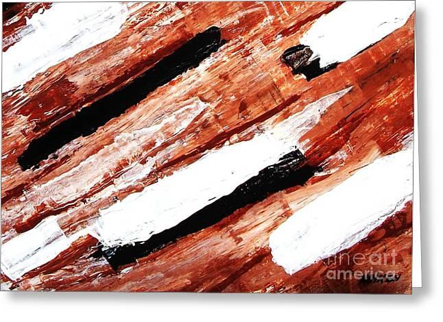 Rustic Landscape Greeting Card by Marsha Heiken