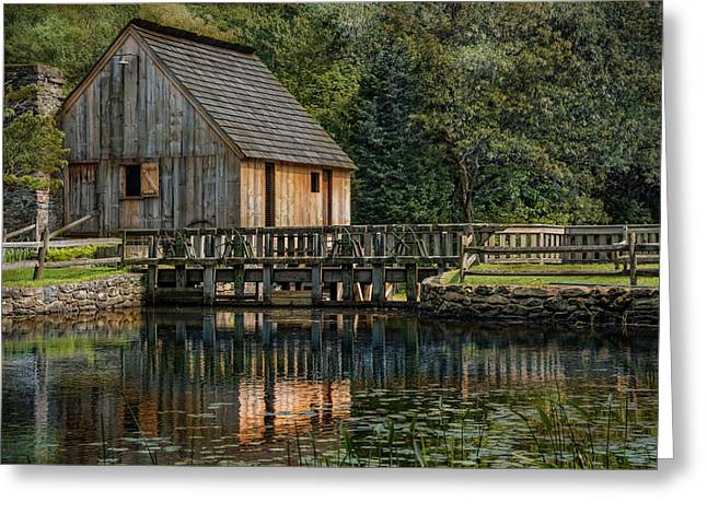Rustic Reflection Greeting Card by Robin-Lee Vieira