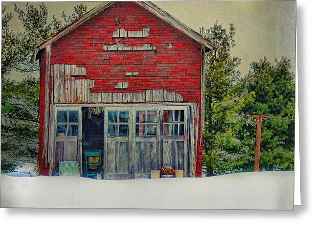 Rustic Shed Greeting Card by Mary Timman