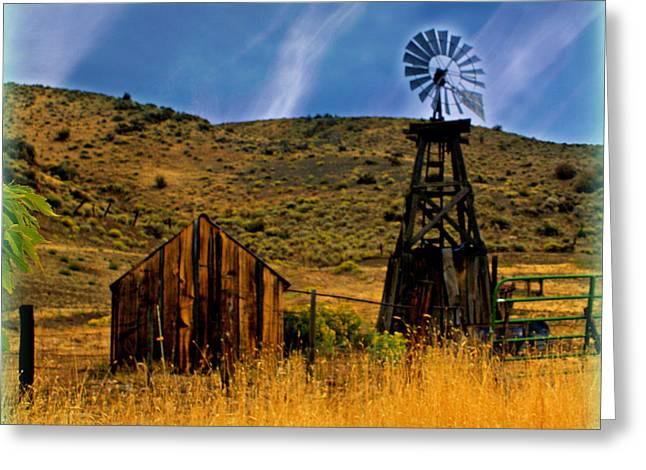 Rustic Windmill Greeting Card by Marty Koch