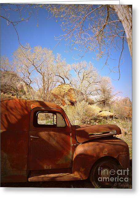 Greeting Card featuring the photograph Rusty Beauty by Tanya  Searcy