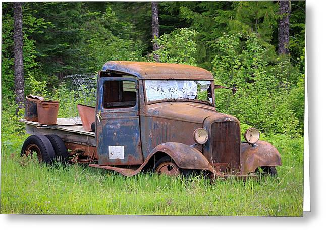 Rusty Chevy Greeting Card by Steve McKinzie