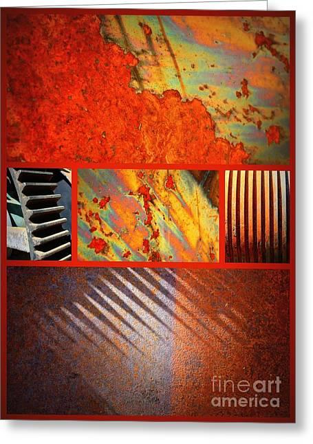 Rusty Metal Canvas Greeting Card by Carol Groenen