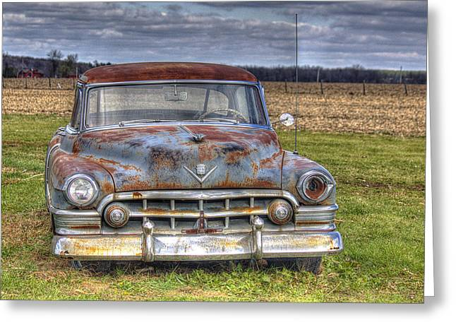 Rusty Old Cadillac - Torcwori Greeting Card