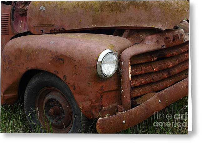 Rusty Old Gmc Truck . 7d8402 Greeting Card by Wingsdomain Art and Photography