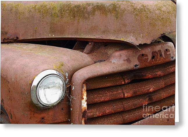 Rusty Old Gmc Truck . 7d8403 Greeting Card by Wingsdomain Art and Photography
