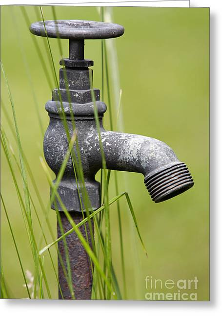 Rusty Water Supply Point Greeting Card by Michal Boubin