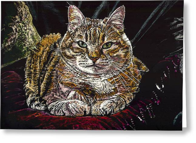 Ruthie The Cat Greeting Card by Robert Goudreau