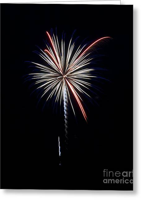 Greeting Card featuring the photograph Rvr Fireworks 11 by Mark Dodd