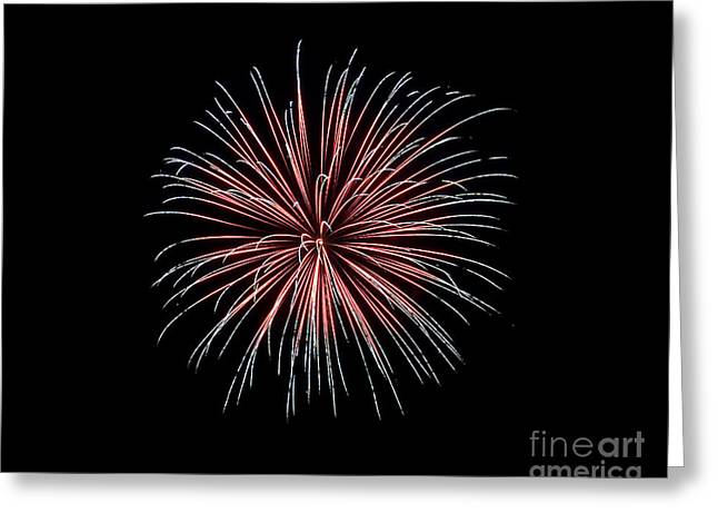 Greeting Card featuring the photograph Rvr Fireworks 12 by Mark Dodd