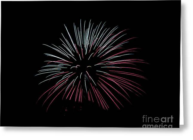 Greeting Card featuring the photograph Rvr Fireworks 15 by Mark Dodd