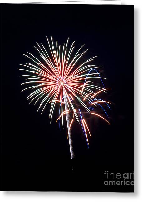 Greeting Card featuring the photograph Rvr Fireworks 16 by Mark Dodd