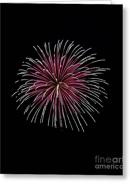 Greeting Card featuring the photograph Rvr Fireworks 8 by Mark Dodd