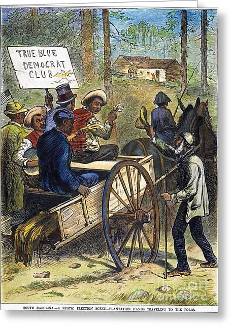 S. Carolina: Elections, 1876 Greeting Card by Granger