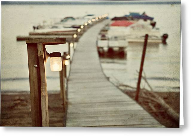 Sacandaga At Twilight Greeting Card by Lisa Russo