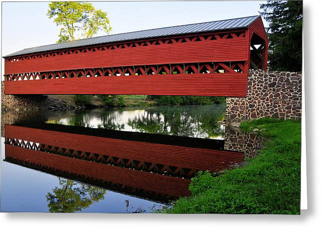 Sachs Covered Bridge Greeting Card by Dan Myers