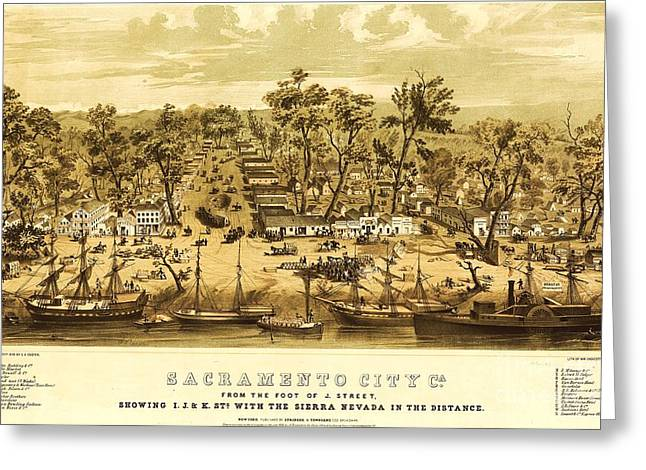 Sacramento City Greeting Card by Pg Reproductions