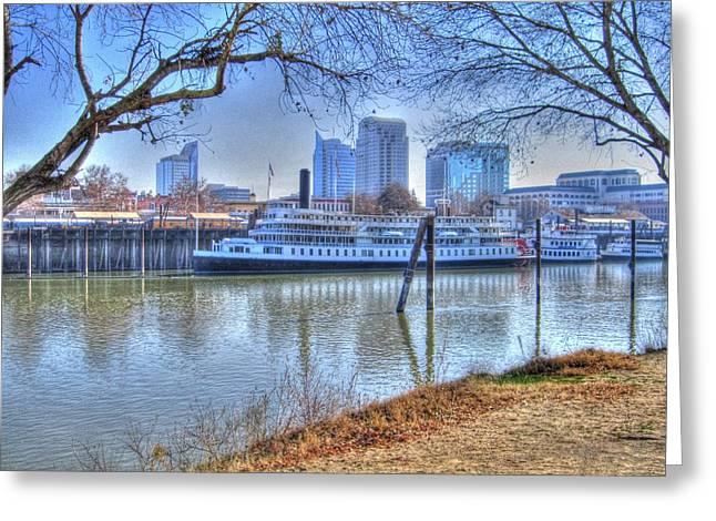 Sacramento River Greeting Card by Barry Jones