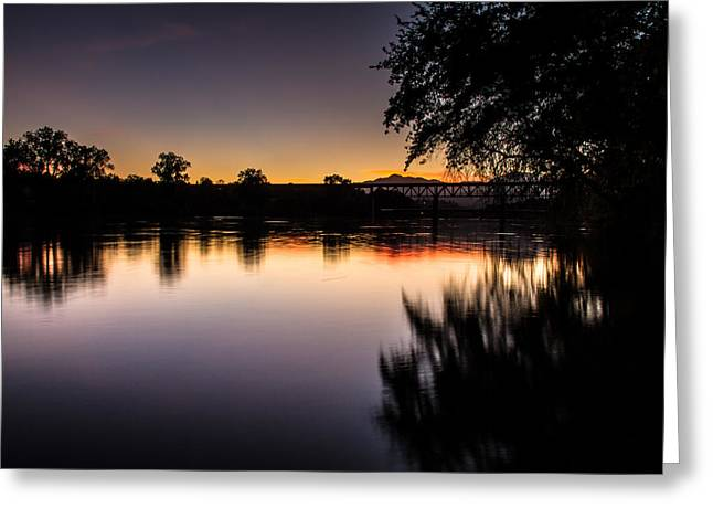 Greeting Card featuring the photograph Sacramento River Sunset by Randy Wood