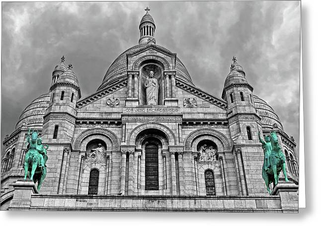 Greeting Card featuring the photograph Sacre Coeur Montmartre Paris by Dave Mills
