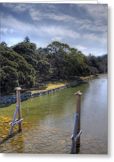 Greeting Card featuring the photograph Sacred River by Tad Kanazaki