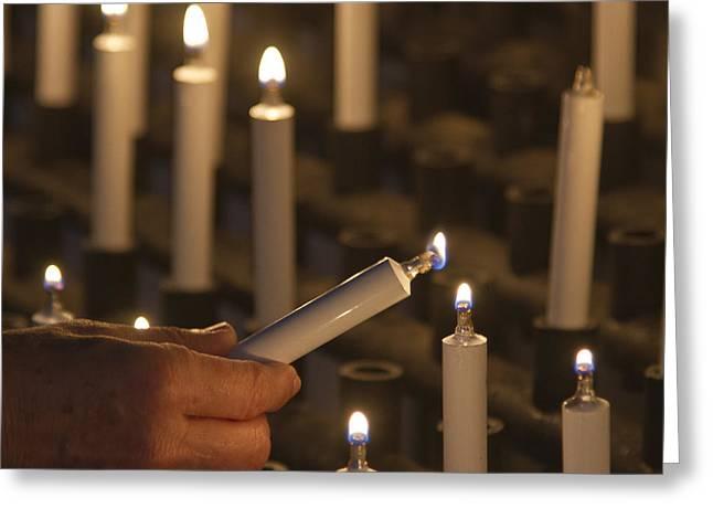 Sacrificial Candles 3 Greeting Card